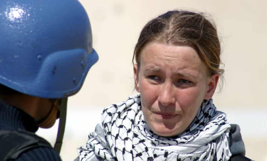 Rachel Corrie speaks during an interview with MBC Saudi Arabia television March 14, 2003. She was killed two days later