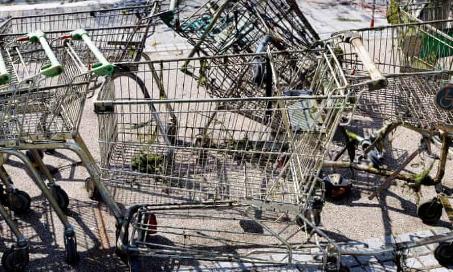 Shopping trollies are collected by Trolleywise or by a scrap removal service.