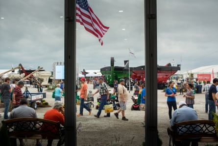 Attendees at the Farm Progress Show in Boone, Iowa.