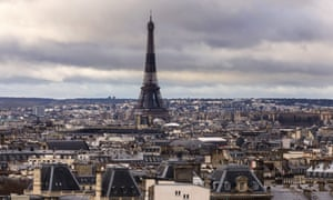 View of the Eiffel Tower and the Paris skyline