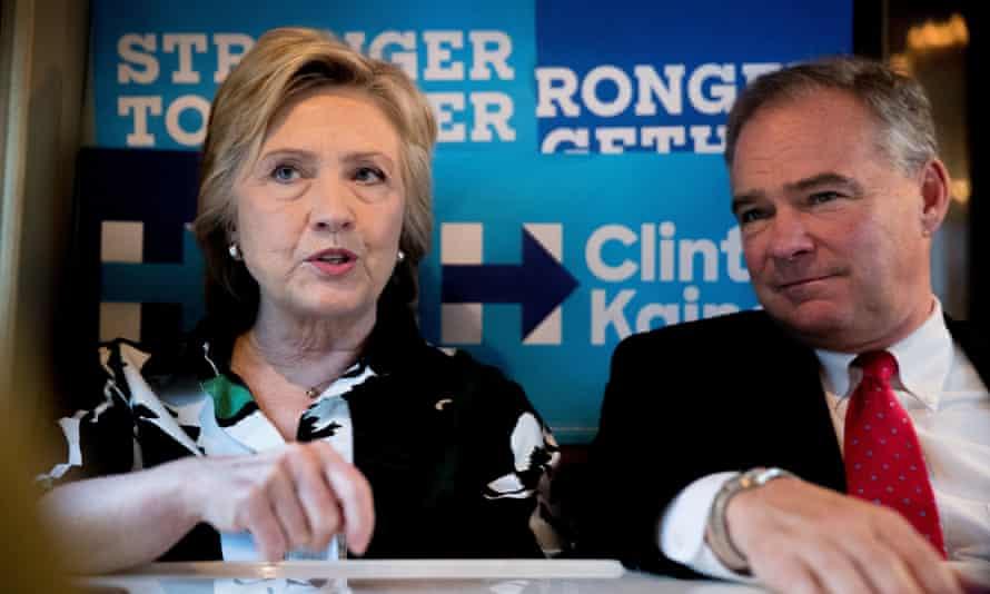 Hillary Clinton, Tim Kaine bus tour Cleveland