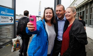 Tony Abbott campaigning in his electorate