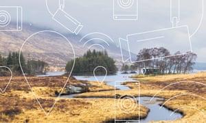River Ossian Scottish Highlands.