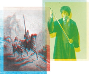 Harry Potter and Don Quixote.