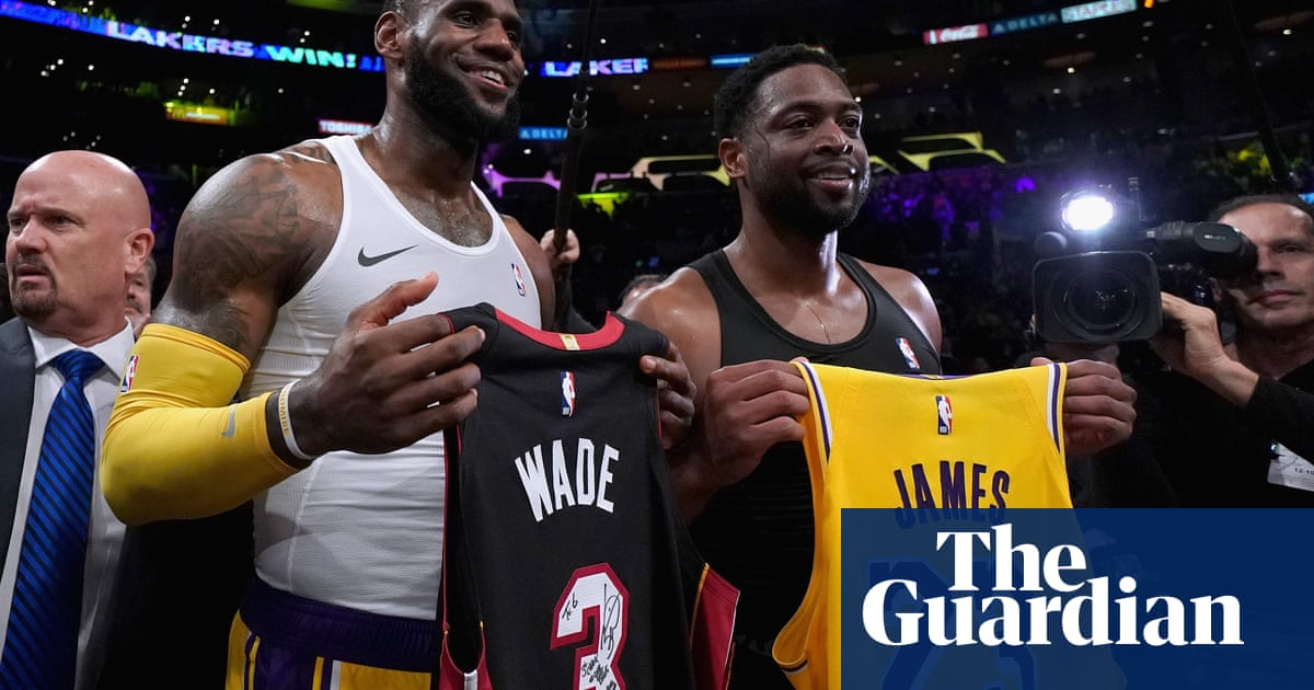 aa4350bd8b4 LeBron James edges Dwyane Wade in star pair s final NBA meeting. This  article is more than ...
