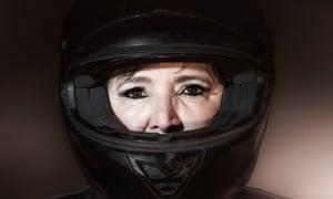 Dalila Mosbah, founder of Les Miss Moto Maroc bike club.