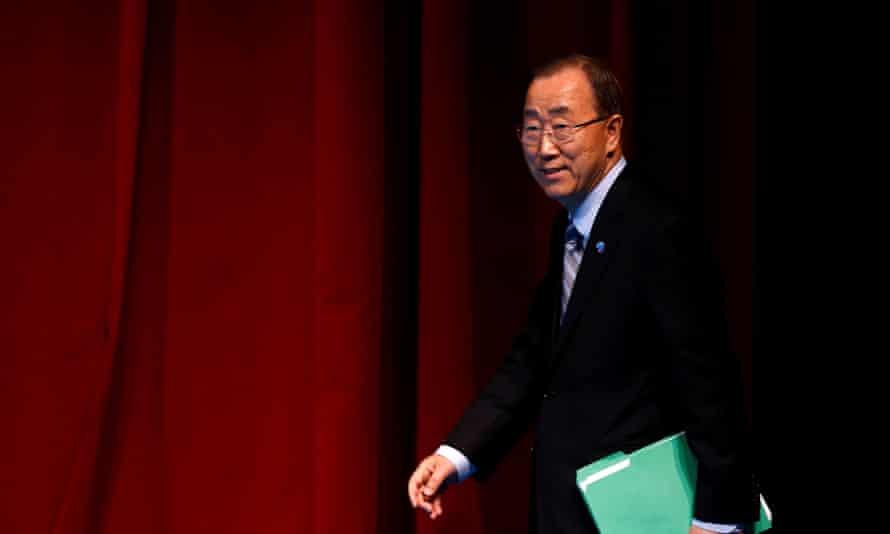 Ban Ki-moon at the closing news conference during the World Humanitarian Summit in Istanbul, Turkey.