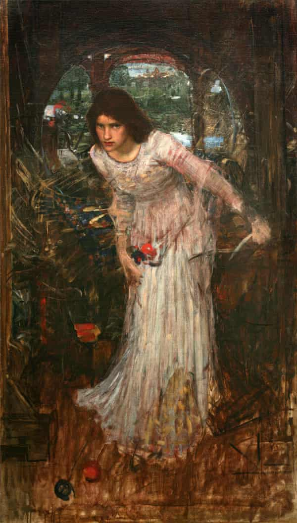 The Lady of Shalott (from the poem by Tennyson), unknown date, John William Waterhouse (1849–1917)