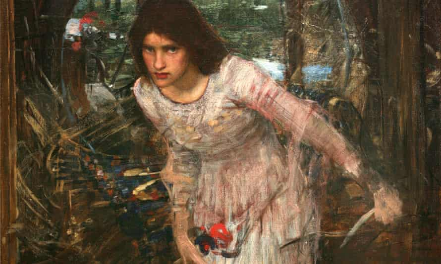 The Lady of Shalott, detail (from the poem by Tennyson), unknown date, John William Waterhouse