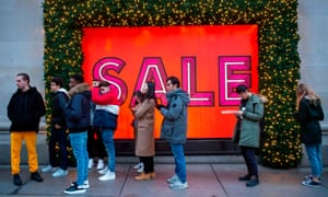 Shoppers queue up for the boxing day sale at Selfridges