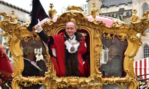 The new lord mayor of London, Charles Bowman, in his golden coach.