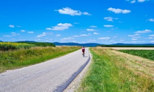 Cyclist in the Alsace, Frane