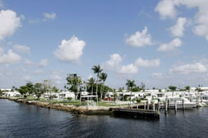 Briny Breezes, 12 miles south of Trump's Mar-a-Lago resort. 'The idea of a presidential township in this area makes a lot of sense,' said broker James Arena.