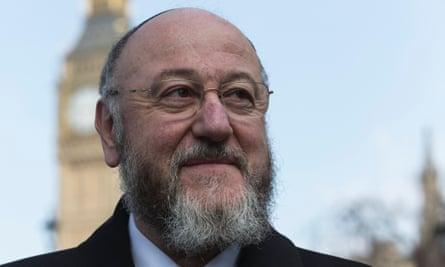 The chief rabbi, Ephraim Mirvis.