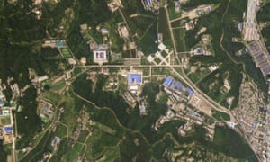 A satellite image shows the Sanumdong missile production site in North Korea on 29 July.