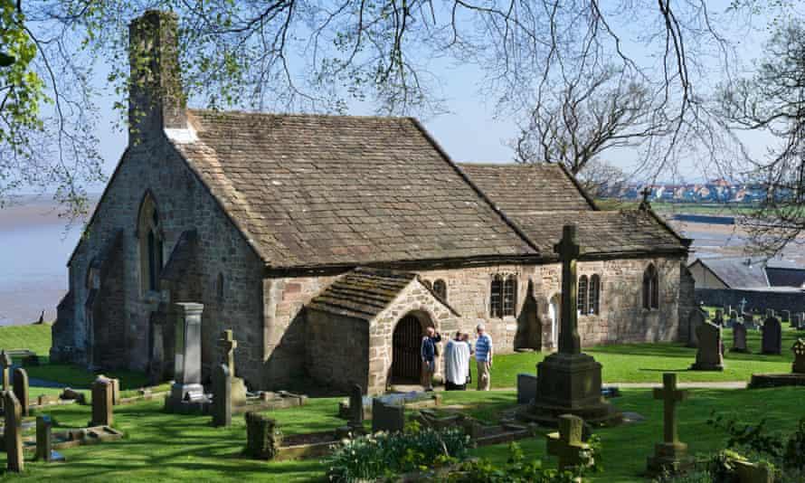 St Peter's church in Heysham, near Morecambe, Lancashire.