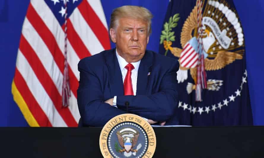 Donald Trump in Kenosha, Wisconsin on 1 September 2020.