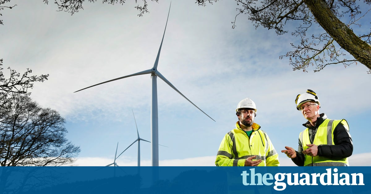 Scotland hosts groundbreaking wind energy project to build new homes