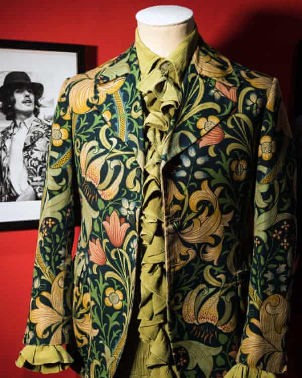A vintage jacket by William Morris with gold lily print from the 1960s by Granny Takes a Trip.
