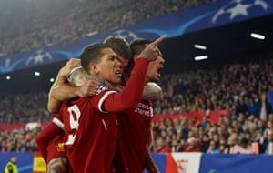 Firmino celebrates after scoring early.