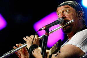 Weird proggy stuff ... Ian Anderson of Jethro Tull. Photograph: Fabrice Coffrini/Keystone/AP