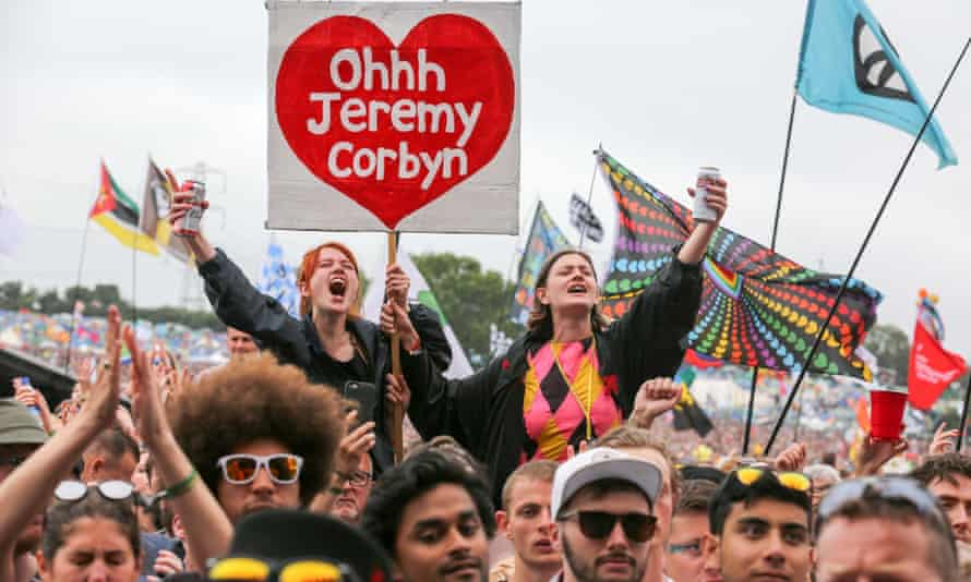 A hero's welcome for Jeremy Corbyn at Glastonbury