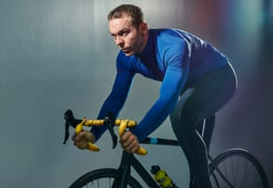 Chris Hoy at the National Cycling Centre.
