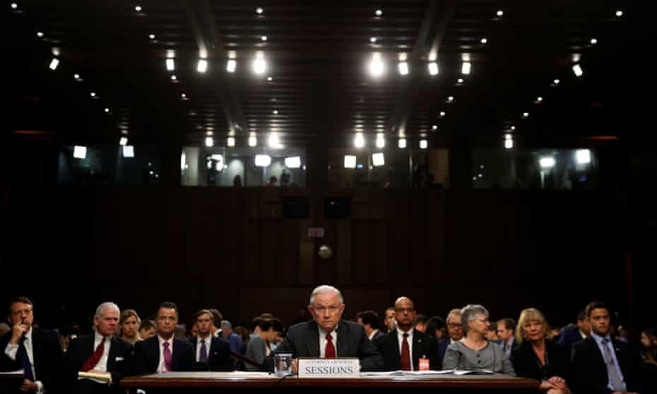 Sessions testifies before the committee. He refused to answer questions about his private discussions with Donald Trump.