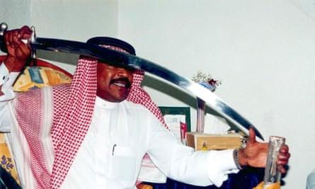 A Saudi Arabian executioner shows off his sword.