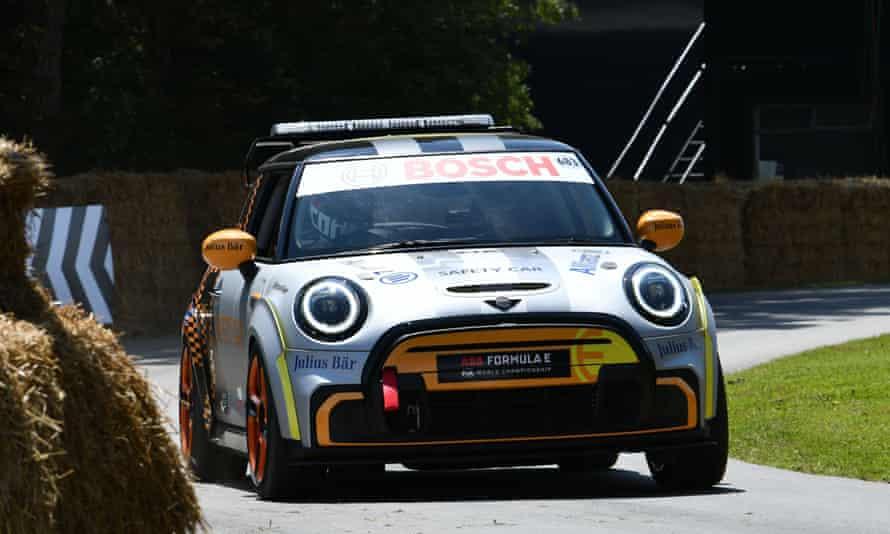 The safety car for a Formula E race