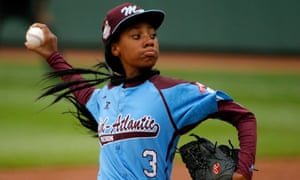 Strike: in 2014, at the age of 13, Mo'ne Davis was the first girl to pitch a shutout in a Little League World Series.
