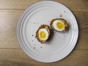 Mark E Johnson's vegetarian Scotch Eggs.
