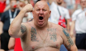 England's fans travelled in their droves to attend the World Cup semi-final.
