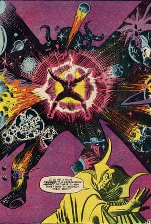 "Strange Tales No. 146. Interior, ""The End . . . At Last!""; script, Dennis O'Neil; plot, pencils, and inks, Steve Ditko; July 1966."