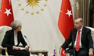 Theresa May meets Recep Tayyip Erdoğan on 28 January