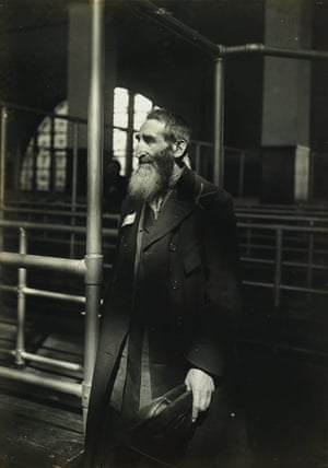 Patriarch at Ellis Island, 1905 'Though Ellis Island was not a new subject for journalism and pictorial representation, Hine's approach and motivation may have been new,' wrote Maren Strange of Hine's social documentary photography, revealing the ways Hine's work exemplifies the spirit of early 20th-century migration