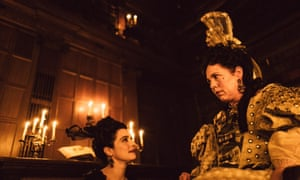 A really funny creation … Olivia Colman (right) and Rachel Weisz in The Favourite.