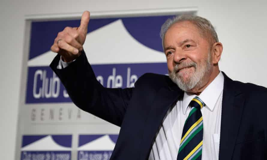 The former Brazilian president Luiz Inácio Lula da Silva is expected to challenge the far-right encumbent, Jair Bolsonaro, in next year's elections.