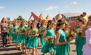 Young flower girls at last year's Eisteddfod