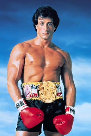 Sylvester Stallone in the peak of condition for Rocky III.