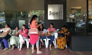 Customers wait at Swati Snacks, a popular pure-vegetarian neighbourhood restaurant in Tardeo, Mumbai