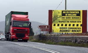 Sign against hard border in Ireland