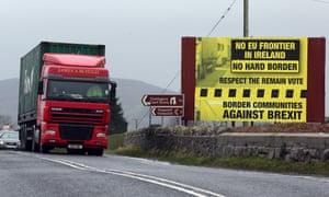 Traffic crossing from the Irish Republic into Northern Ireland