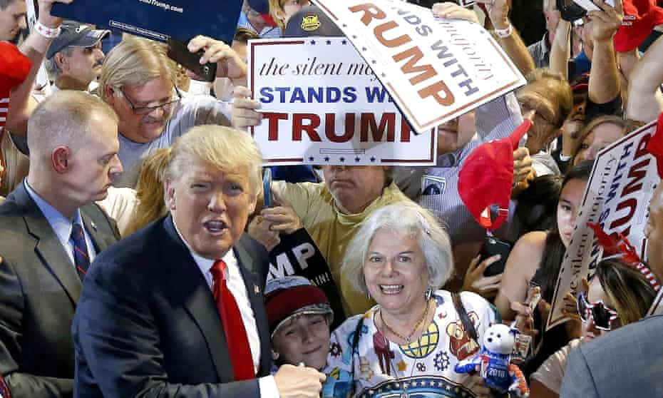 Donald Trump, seen in June 2016, surrounded by the affirmation some experts say he craves.