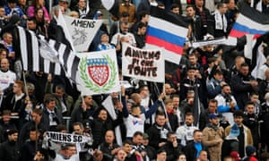 Amiens fans watch their team in Ligue 1 – a pleasure they may miss next season.
