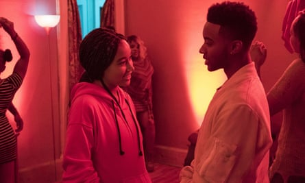 Real-world issues … Amandla Stenberg and Algee Smith in The Hate U Give.