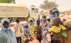 Refugees fleeing violence in north-west Nigeria arrive at the Garin Kaka refugee site in Maradi, Niger in May.
