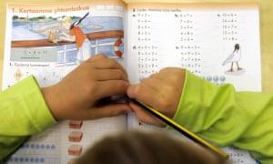 school child in Finland