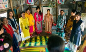 Girls at the Edge club in Narsingdi, Bangladesh