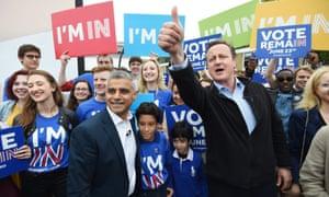 Sadiq Khan and David Cameron